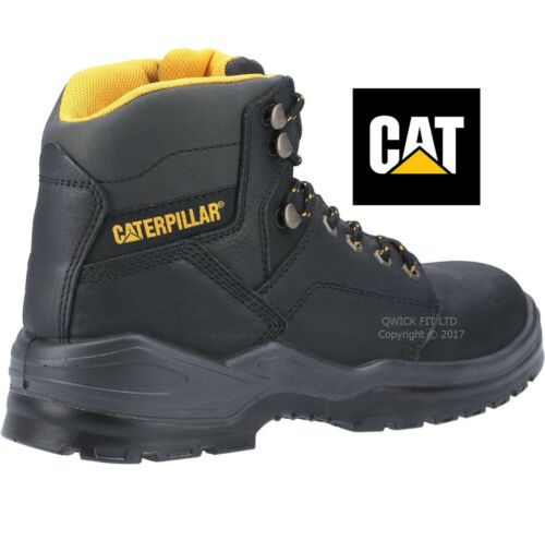 """MENS CATERPILLAR WORK STEEL TOE CAP MIDSOLE S3 SAFETY LEATHER CAT 6/"""" WORK BOOTS"""