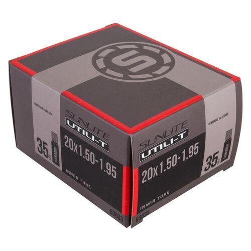 Sunlite Utili-T Standard Schrader Valve Tubes 20x1.50-1.95 Sv35 Ffw39mm