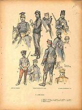 Armée belge Belgique Belgium Army Officier de Lanciers Artilleur Guide 1914 WWI