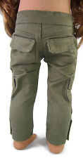 "Olive Cargo Skinny Pants for 18"" American Girl Boy Logan Doll Clothes"
