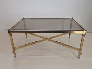 Image Is Loading Vintage Solmet Brass Coffee Table Made In Italy