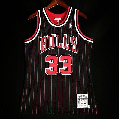 timeless design 1775a 8ea54 100% Authentic Scottie Pippen Mitchell & Ness 95 96 Bulls Jersey 40 44 48  52 56 | eBay