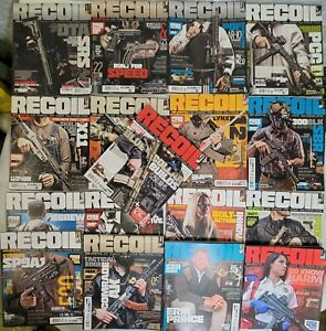Recoil Magazine 17 Huge Lot! #31-46 w/ Targets & Vol 1, Issue #5 No Target Guns