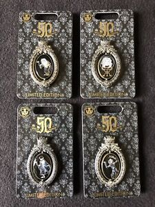 Haunted Mansion 50th Anniversary Event Pin Disney Hitchhiking Ghosts Set Of 3