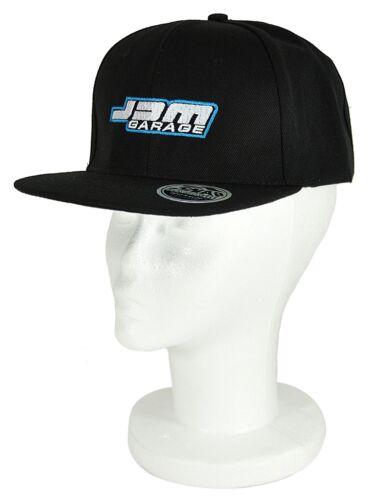 JDM Garage Original Flat Peak Snap Back Cap-noir