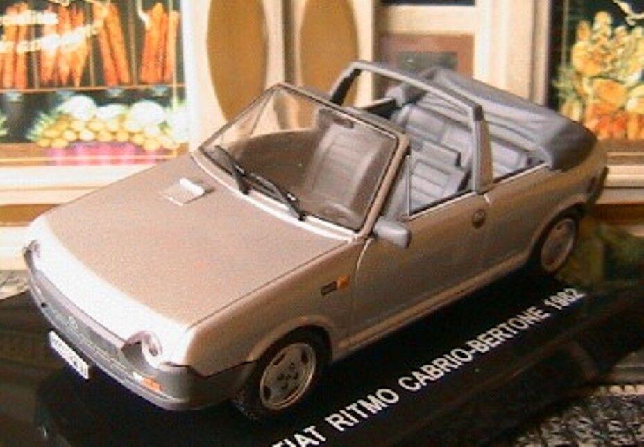 FIAT RITMO S65 CABRIOLET BERTONE 1982 1982 1982 1 43 ITALIA greyE DEAGOSTINI ROADSTER 87f136