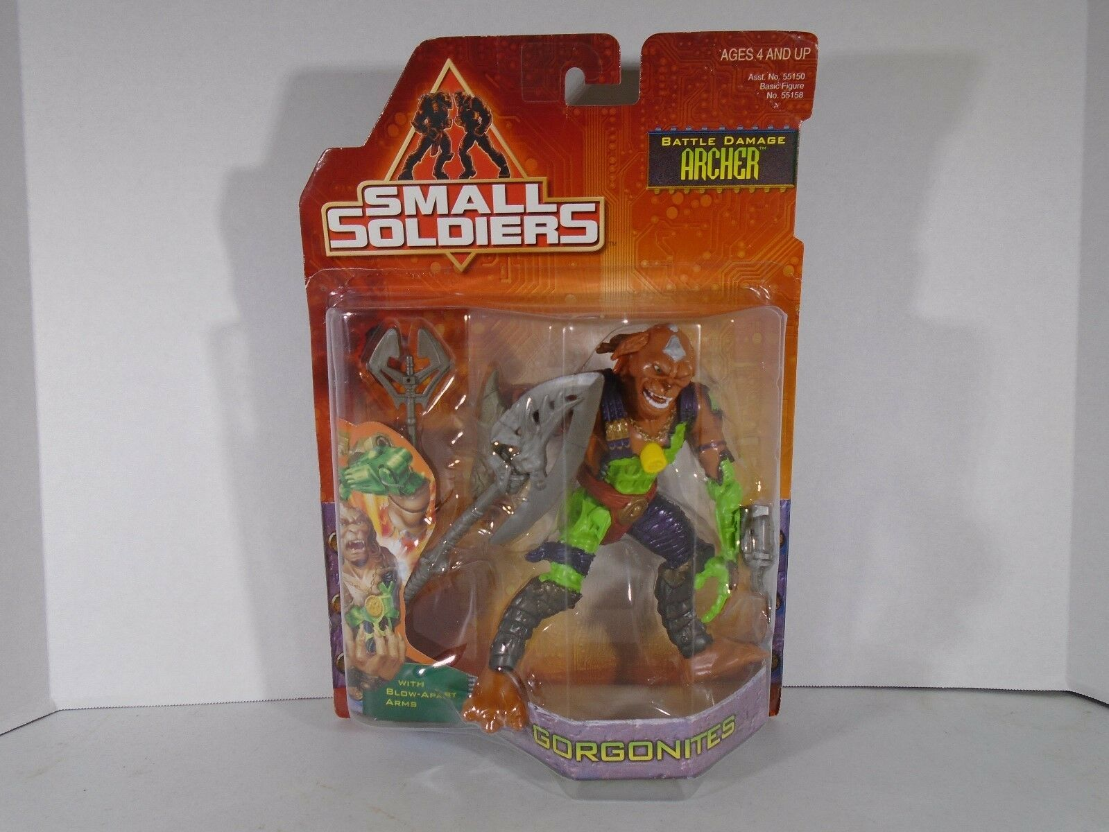 1998 HASBRO--SMALL SOLDIERS MOVIE--6.5  BATTLE DAMAGE ARCHER FIGURE  NEW