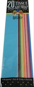Multicolor Tissue Paper 20 Sheets Premium Quality great for wrapping a packing