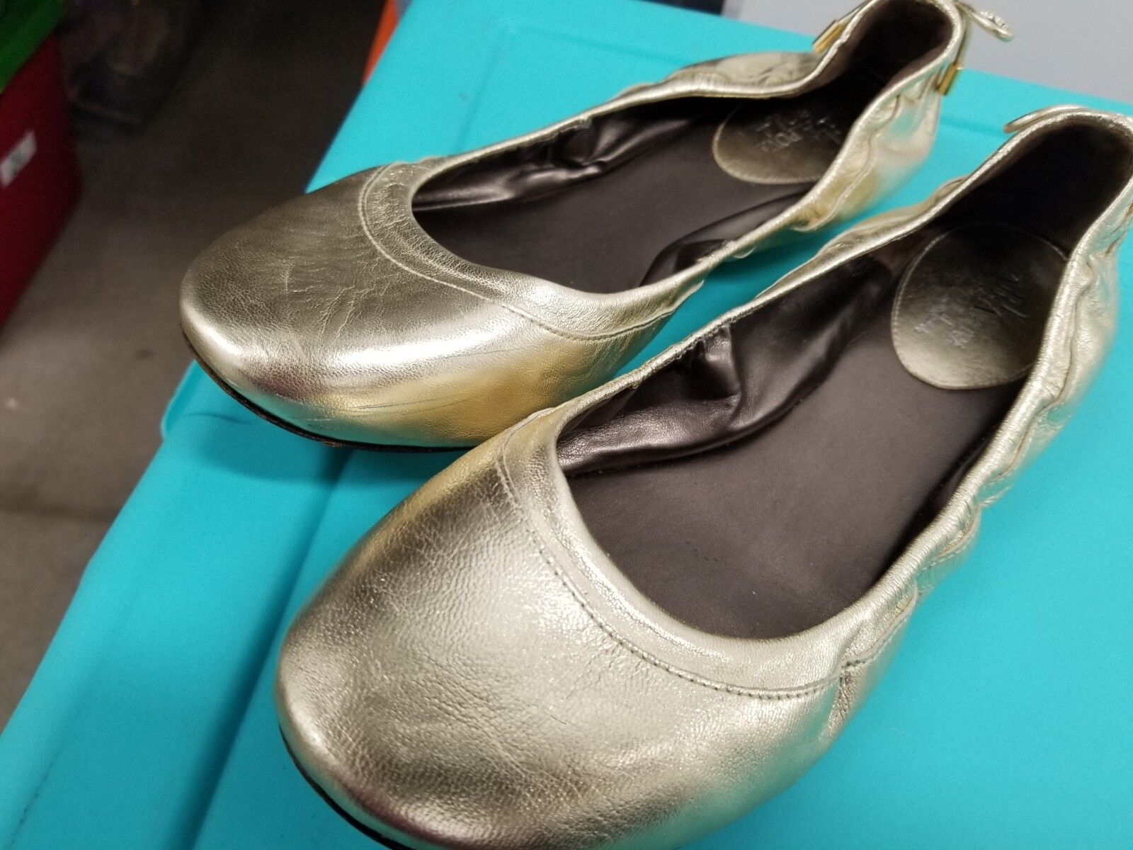 MARIA SHARAPOVA Air sole BACARA shoes by Cole Haan gold Ballet Flats Size 9.5 B