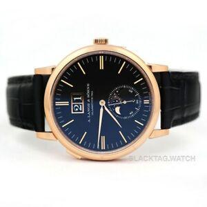 A. Lange & Sohne Saxonia Moon Phase Wristwatch 384.031 Rose Gold