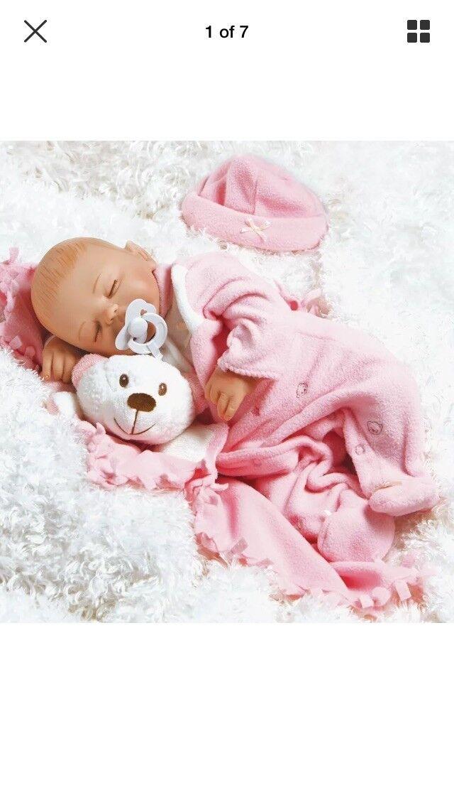 Paradise Galleries recién nacido bebé muñeca parece real dormir 16 pulgadas Bebé Carly