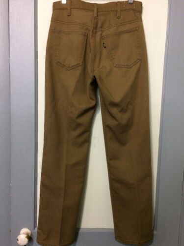 Vtg 60s 70s Green Levis Sta-Prest Pants Cotton Sli