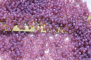 10-0-Vintage-French-Violet-Rose-3-Glass-Seed-Beads-1oz-Limited