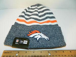 15baab554 Details about Denver Broncos Knit NFL New Era striped Chill Hat Winter Pom  Beanie Knit Cap