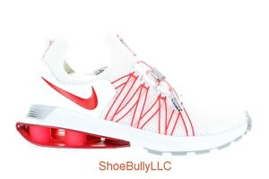 WOMEN'S NIKE SHOX GRAVITY AQ8554 106 WHITE/UNIVERSITY RED-WHITE BRAND NEW DS