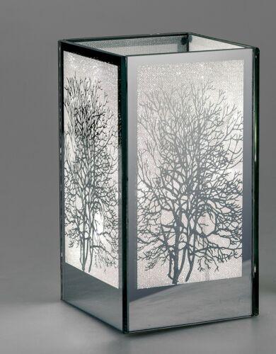 18cm 10x10cm mit LED silber Formano Deko Licht Tisch Lampe MIRROR TREE H