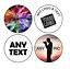 Etiquetas Adhesivas circular Personalizados Impresos Personalizados círculo con el logotipo de dirección de envío