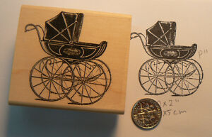 P11-Baby-Carriage-Antique-Stroller-rubber-stamp-1-75-WM