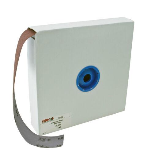 """150 Grit Shop Roll CGW 63086 2/"""" x50yards Premium Aluminum Oxide Friable Grain"""
