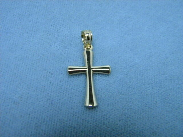 Cross 14K Yellow Solid gold 3 4ths inch x 1 2 inch Tapered Beveled ends
