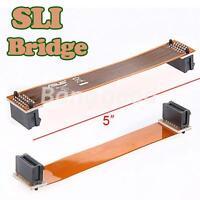 "4.7"" 12cm Flexible SLI Bridge PCI-E Video Card Cable Connector For ASUS NVidia"
