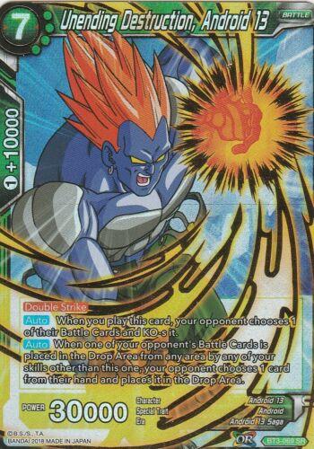 Unending Destruction Android 13 BT3-069 SR Dragonball Super Z GT Ball
