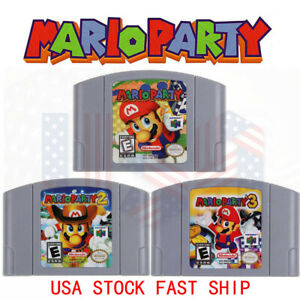 Mario-Party-1-2-3-Video-Game-Cartridge-Console-Card-US-Version-For-Nintendo-N64