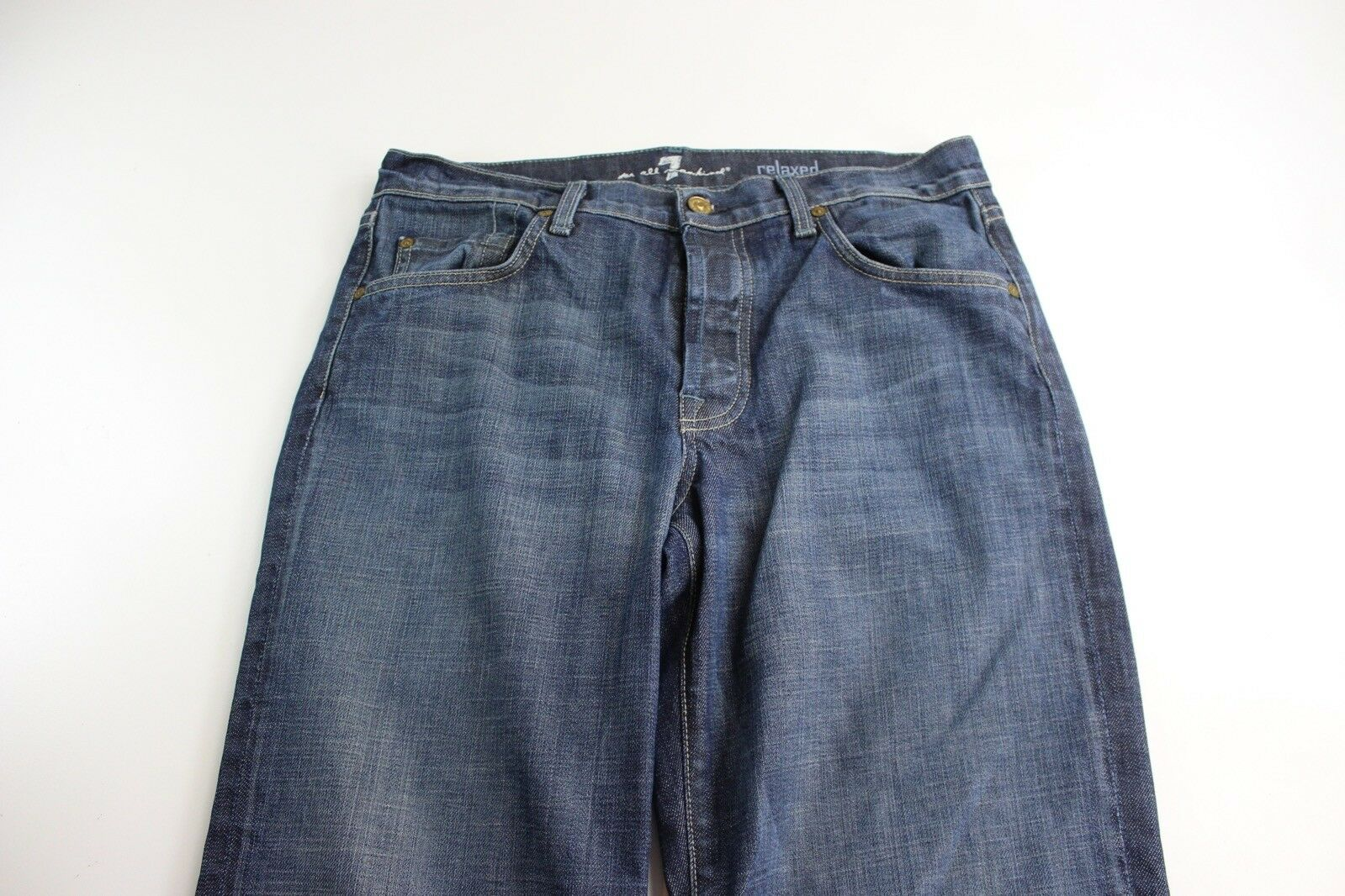 7 For All Mankind Relax Jeans Pants 33 x 35 Button Fly