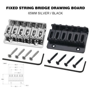 6 string electric guitar bridge hard tail top load fixed hard tail accessory us ebay. Black Bedroom Furniture Sets. Home Design Ideas
