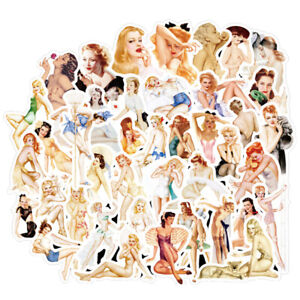 50Pcs-Sexy-Retro-Poster-Girls-Stickers-Suitcase-Laptop-Guitar-Car-Stickers-MC