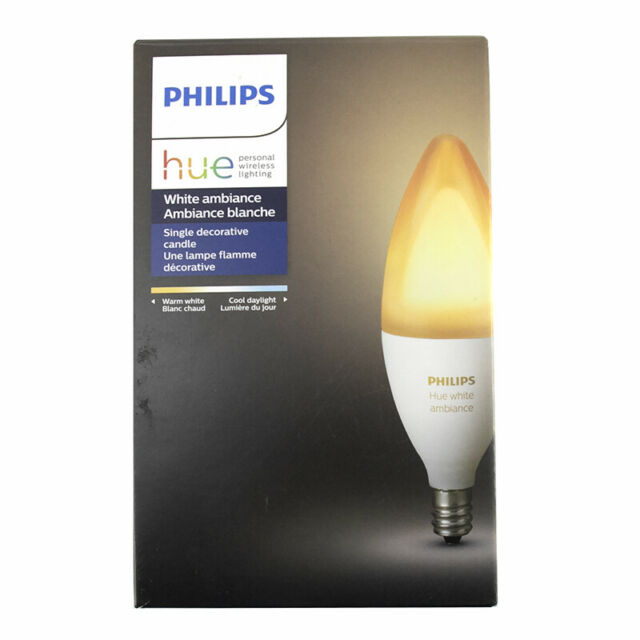 Philips Hue White Ambiance Decorative Candle 40W Dimmable LED Smart Bulb Hue