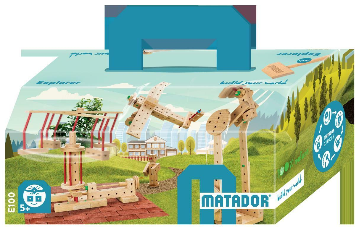 Matador Holzbaukasten Explorer E100 Baukasten