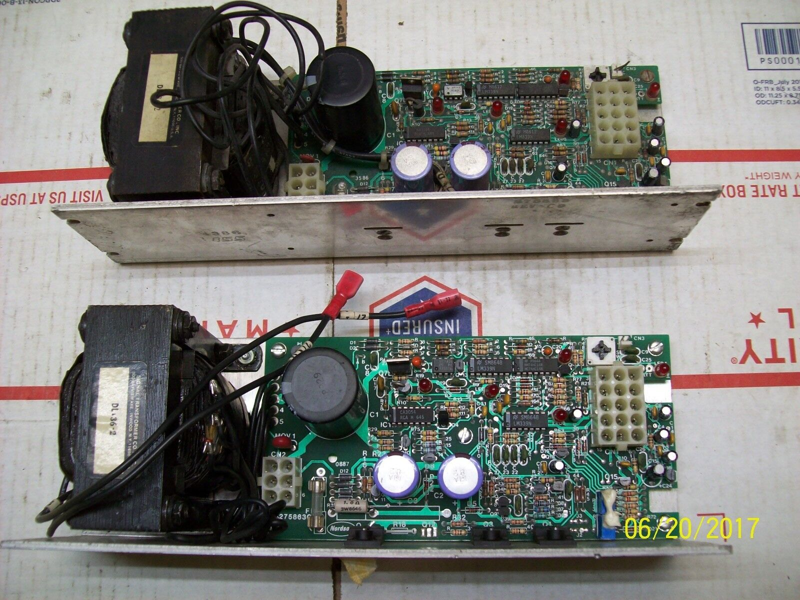 (1) NORDSON POWER SUPPLY CIRCUIT BOARD REV D7 , 275863C