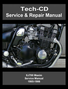 yamaha xj700 maxim service repair manual xj 700 1985 1986 ebay rh ebay co uk
