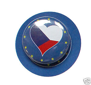 Brillant 2 Badges Europe [25mm] Pin Back Button Epingle Česká Republika Assurer IndéFiniment Une Apparence Nouvelle