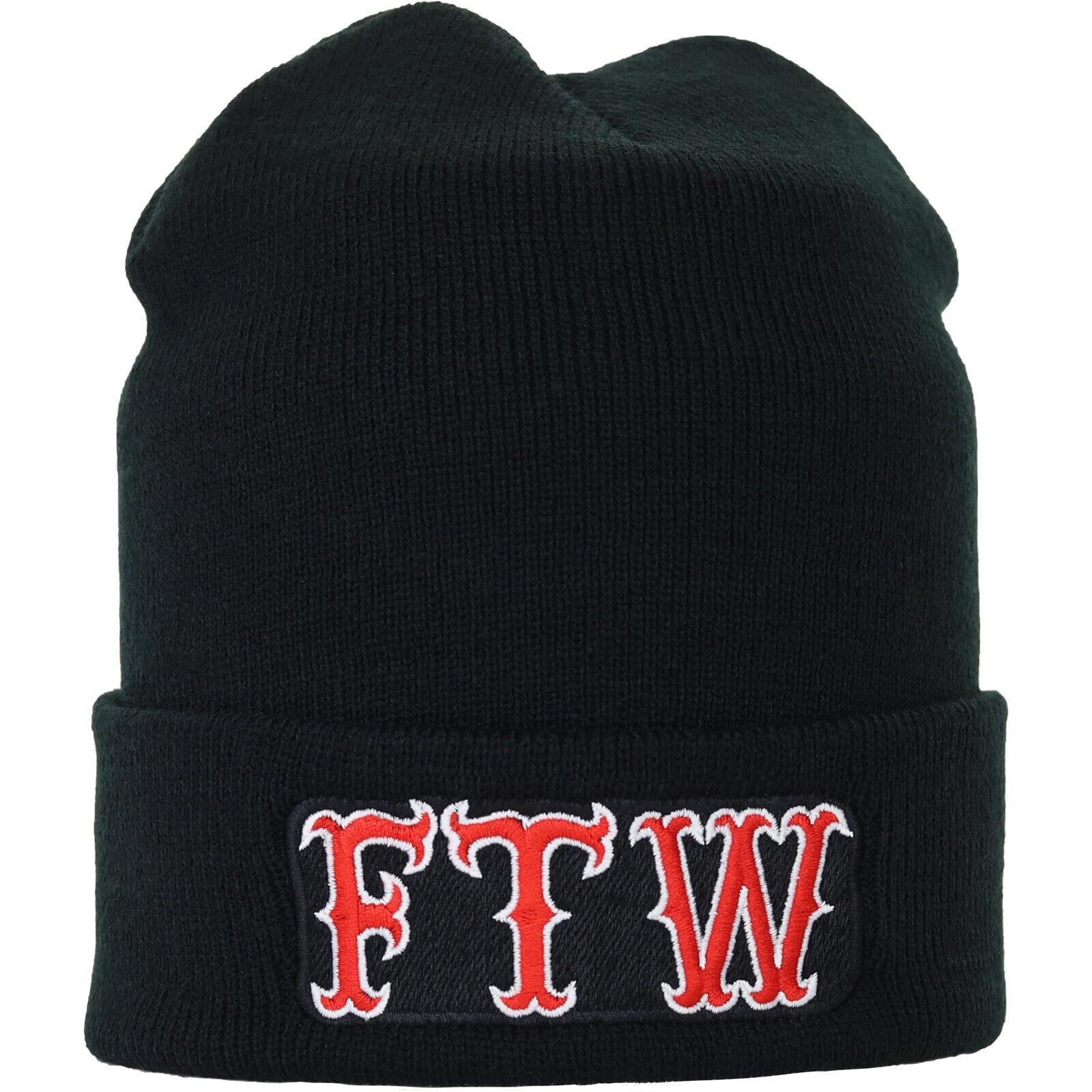 FTW Fuck the World Strickmütze Wollmütze Haube Beanie Winter Unisex Damen/Herren