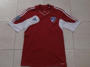 huge discount df461 d8d7a Details about FC DALLAS ADIDAS SHORT-SLEEVE MLS RED SOCCER JERSEY MEN S