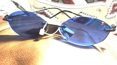 Blue Hippy Look Foster Grant Trend Vintage New RETRO Sunglasses 100% UV Block