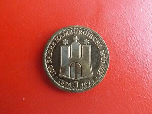 *100. Jahre Hamburgische Münzen *münze/medaille 1975*ca.35mm(schub55)