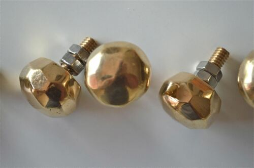 set of 8 superb quality faceted brass furniture knobs handles chest knob 2008
