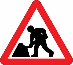 Road Works, Road Traffic Safety Signs, Stickers /Adhesive ...
