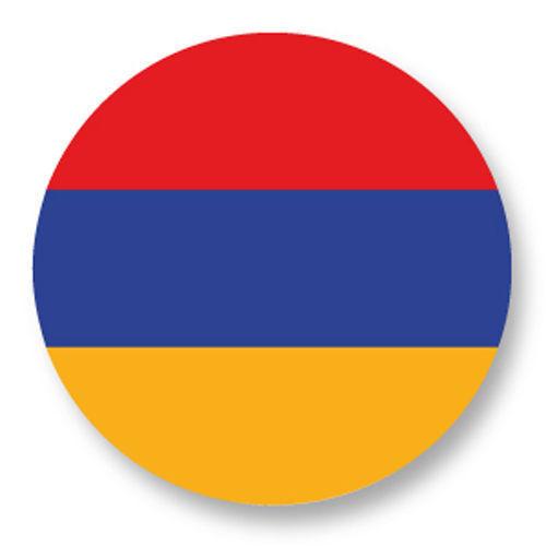 Magnet Aimant Frigo Ø38mm Drapeau Flag Echarpe Maillot Europe Armenie Armenia AM