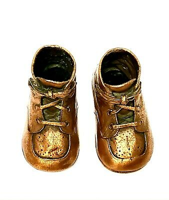 Baby Shoes Brass/Bronze/Copper Vintage