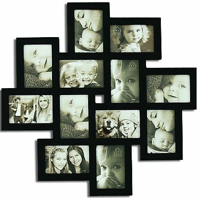 """Picture Frame Memory Photo Love family Wedding Friend Hanging Holds 12 , 4""""x6"""""""