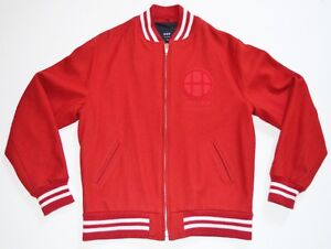 Xxl Sf Dirtbag Rojo 1984 Letterman Varsity Blanco y Lana Crew Jacket Xl de Abrigo Huf OSZpwp