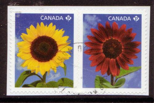 CANADA 2011 SUNFLOWERS BOOKLET PAIR FINE USED