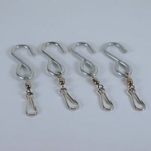 Image is loading Swivel-Hooks-for-Wind-Spinners-or-Decor-Four-