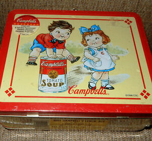 Vintage-Kids-Campbells-Soup-Metal-Collectible-Lunch-Box-New-UNOPENED