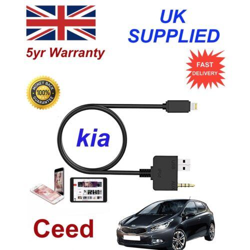 Para Kia Ceed iPhone SE 5 6 7 Music Interface Audio AUX 8 8 pines Cable de carga
