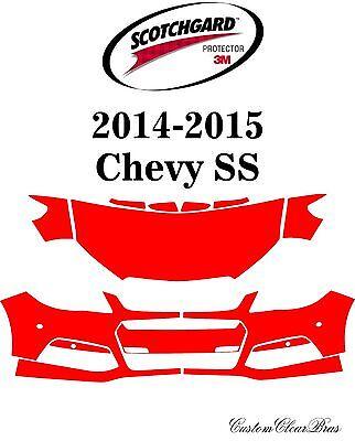 Chevrolet Camaro SS 2014-2015 PreCut 3M Scotchgard Paint Protection Clear Bra